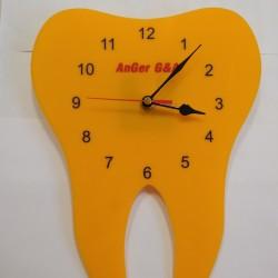Часовник зъбче плексиглас жълт
